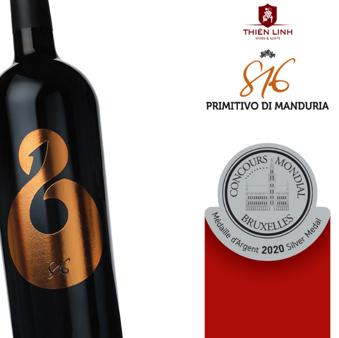 816 PRIMITIVO DI MANDURIA - SILVER MEDAL 2020 MEDAILLE D'ARGENT